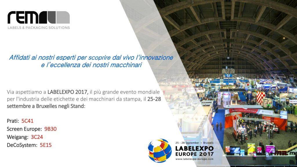 Presenza a Label Expo Europe 2017